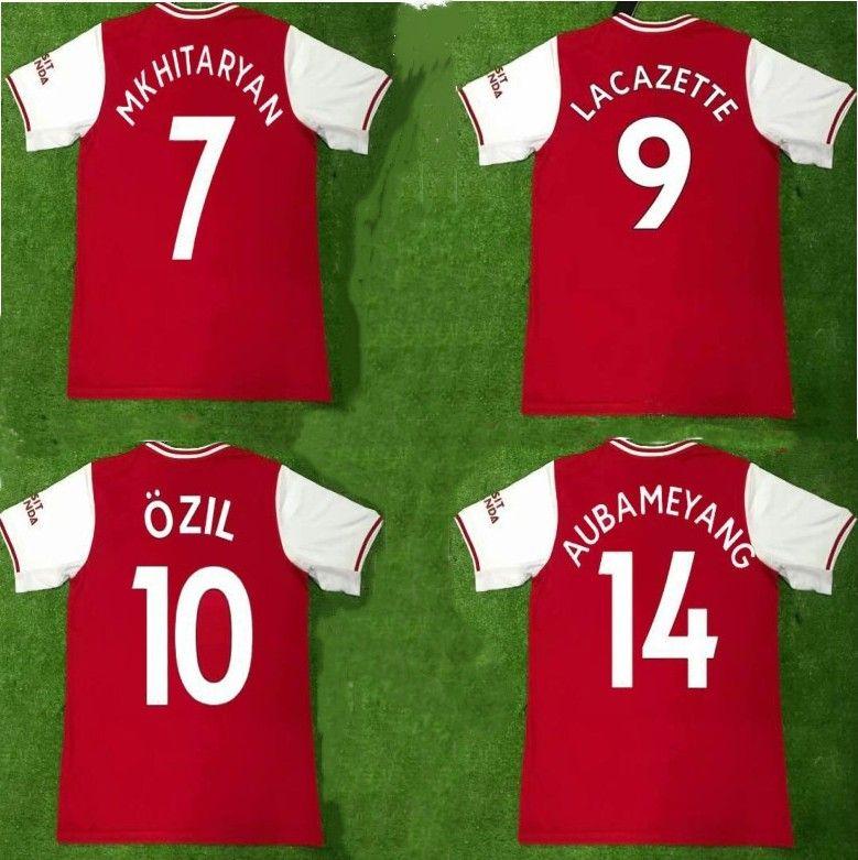 new product c7fee 6fefc 2019 2020 LACAZETTE AUBAMEYANG soccer jersey MKHITARYAN OZIL IWOBI TORREIRA  football shirts XHAKA KOLASINAC 19 20 home Camiseta de futbol