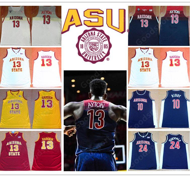 new style 8ec34 718af 13 DREANDRE AYTON ARIZONA STATE COLLEGE NCAA Stitched 10 Mike Bibby 24  Andre Iguadala jerseys Jersey 13 JAMES HARDEN SHIRTS