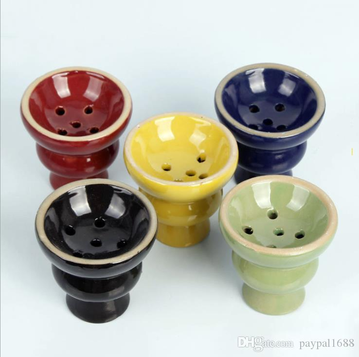Ceramic hookah bowl and pan accessories