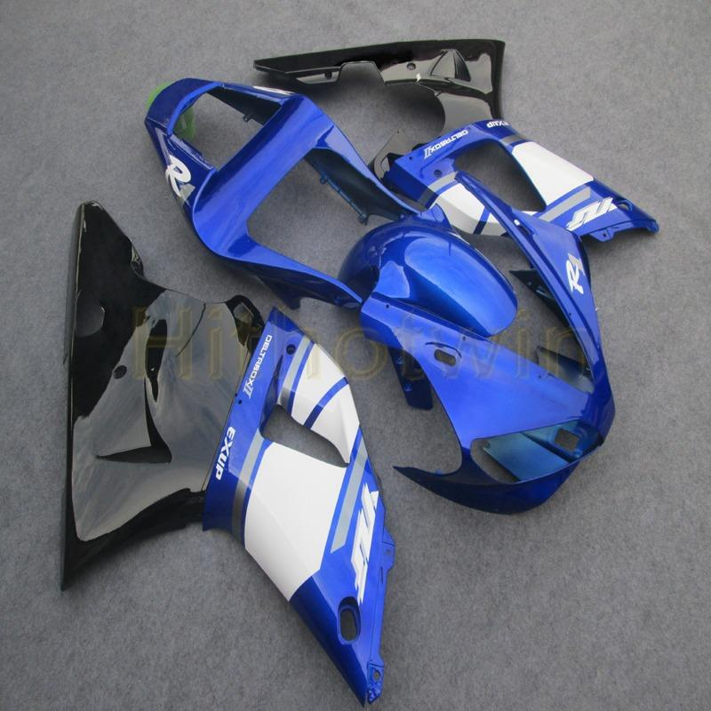 Custom+Screws blue motorcycle cowl for Yamaha YZF-R1 00 01 YZF R1 2000 2001 ABS Plastic motor Fairings