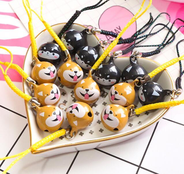 New 10 Pcs Cartoon Husky dog bell Cell Phone Strap Charms Keychains Key Ring DIY Jewelry Making Accessories T40