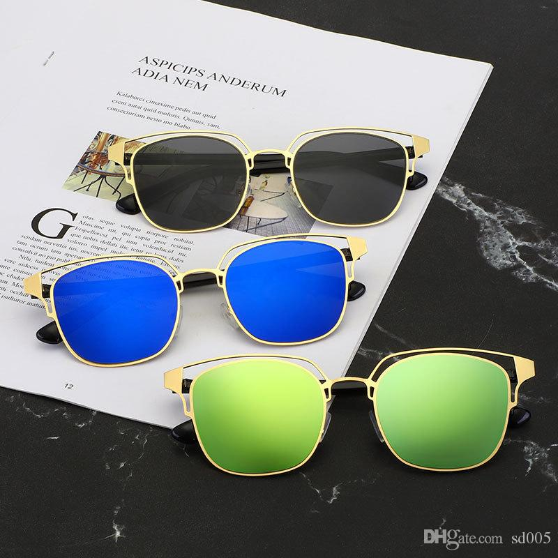 Color Film Eyewears Square Man Sunglasses Metal Man Eyeglass Stainless Steel Unisex Drive Fishing Outdoor Hot Sale 6xse D1