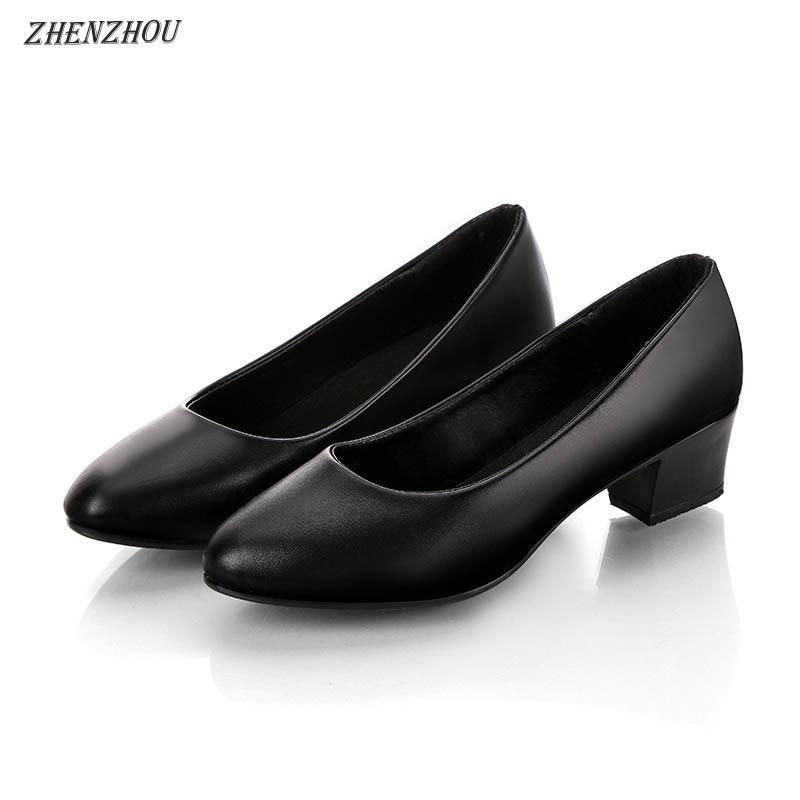 Designer Dress Shoes Women Pumps 2019 Formal Work Non Slip Womens