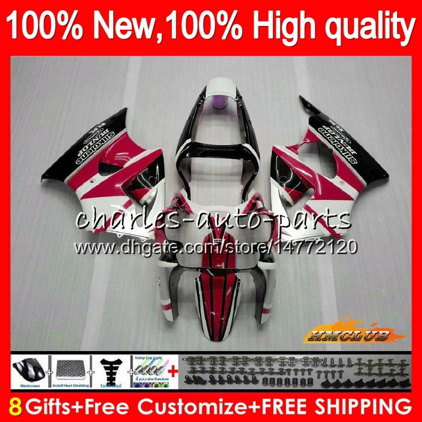 Body For KAWASAKI ZX-636 ZX 600 CC 6 R ZX636 ZX 636 600CC 37HC.115 ZX-6R ZX600 ZX6R 00 01 02 white red hot ZX 6R 2000 2001 2002 Fairings kit