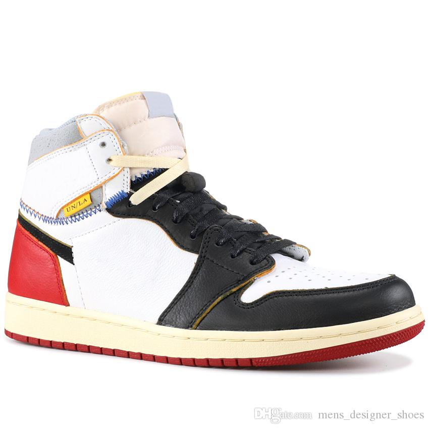 wholesale dealer 187e3 f055d Scarpini Calcetto Scarpe Da Pallacanestro Union X Nike Air Jordan 1 Retro  High OG NRG Blu Rosso BV1300 106 BV1300 146 Scarpe Da Basket Fashion Top 1S  Uomo ...