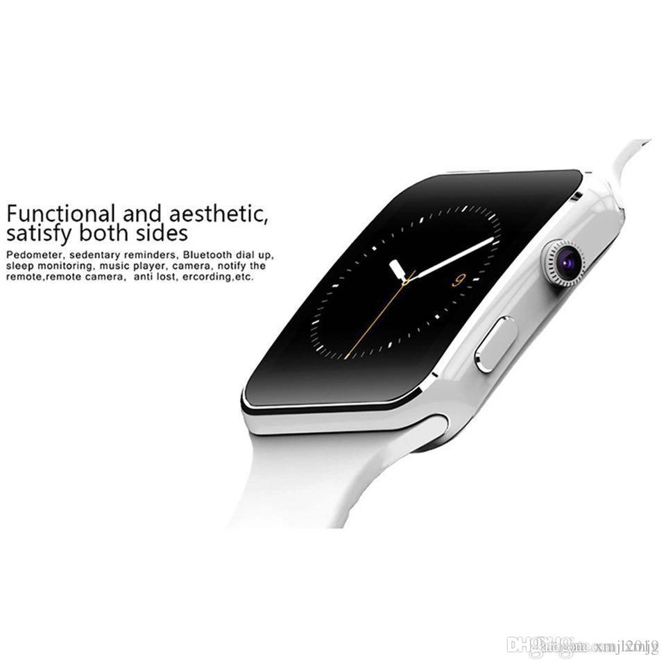 X6 Smart Watches With Camera Touch Screen Support SIM TF Card Bluetooth Smartwatch For Iphone X Samsung s9 Phone