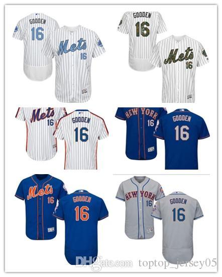 new style 553ec 2df45 2018 New York Mets Jerseys #16 Dwight Gooden Jerseys men#WOMEN#YOUTH#Men s  Baseball Jersey Majestic Stitched Professional sportswear