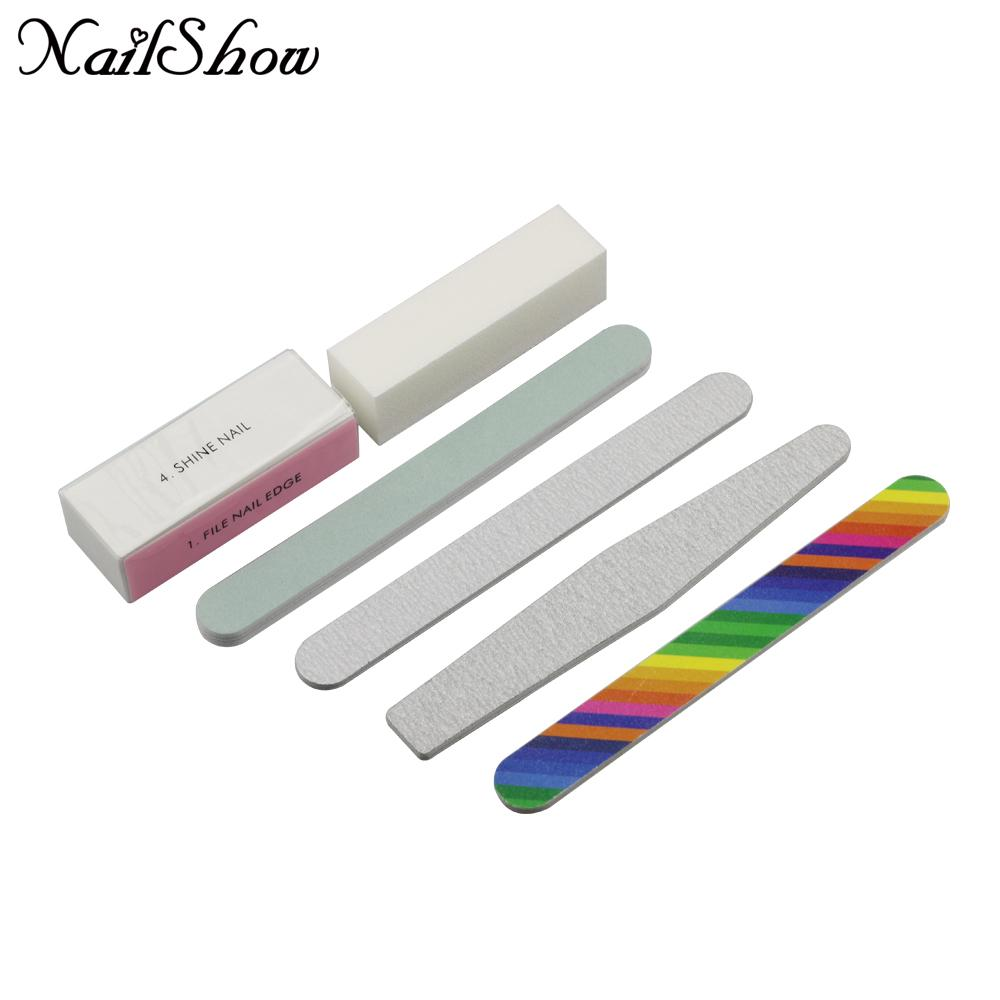 Nail Art Pedicure Tools Set Nail Sanding Files 4 Way Buffer Block ...