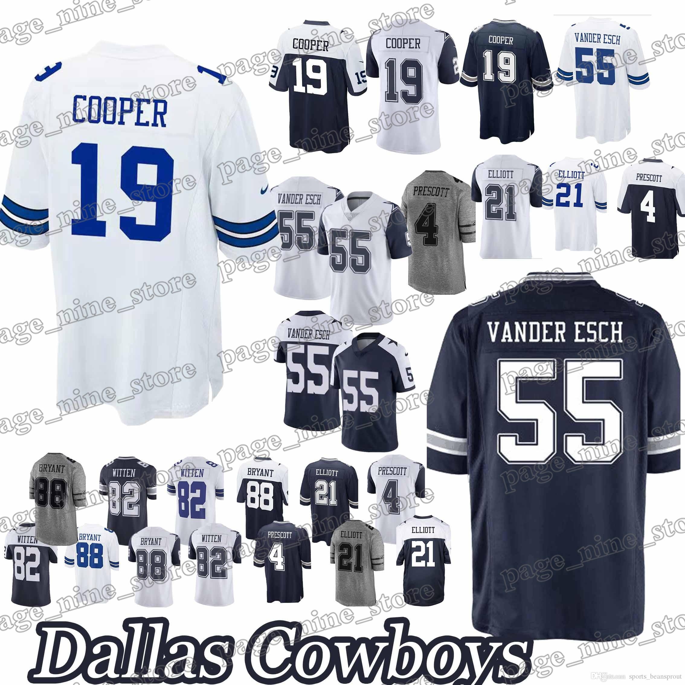27c8cafdaea Dallas Cowboys Jerseys 19 Amari Cooper 55 Leighton Vander Esch 88 ...