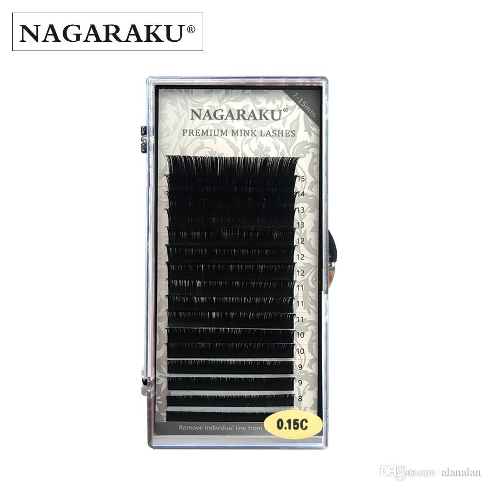 e6e36266217 NAGARAKU Wholesale 7~15mm MIX 16rows/Case Naturally Artificial Mink Eyelash  Extension Individual Lashes Premium Mink Korea Lashes Eyelash Extension  Supplies ...