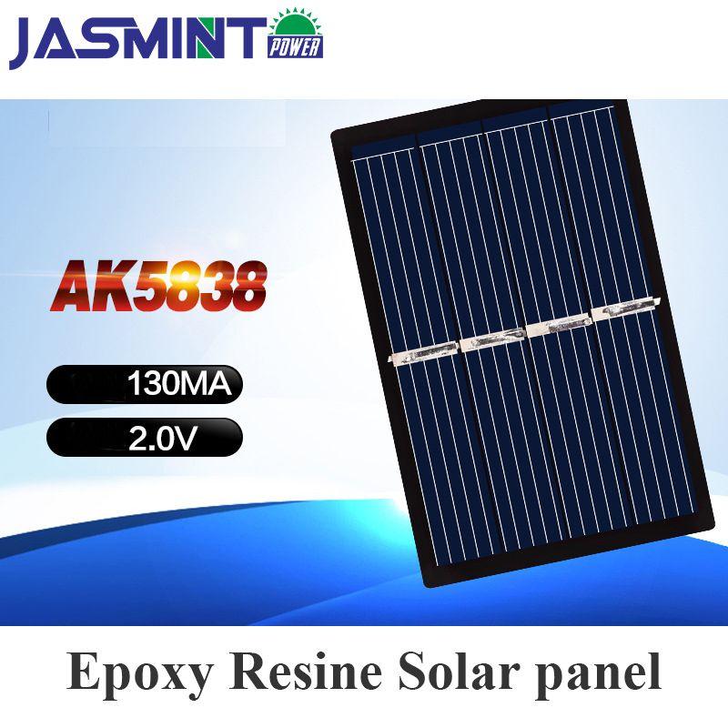 58*38mm 2V 130mA Mini Solar Panels Solar Cells For DIY Scientific  Experiment for solar bag