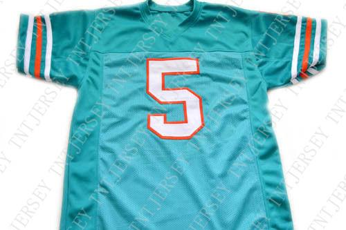 2019 Wholesale Ray Finkle  5 Ace Ventura Movie Miami Football Jersey Teal  Green Stitched Custom Any Number Name MEN WOMEN YOUTH Football JERSEY From  ... a3d1a697b
