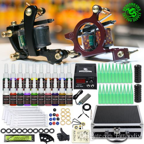 Professional Tattoo Kit Liner Shader Machines Power Supply ...