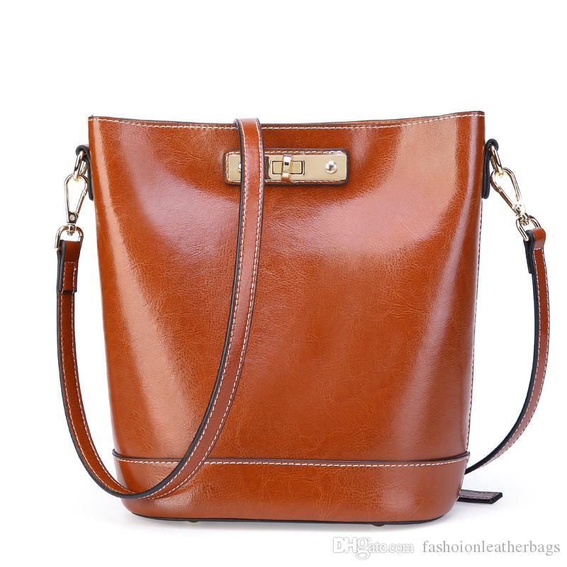 Fashion Branding Alibaba wholesale brown Genuine women Leather Handbag  FS5185 2cb9a287e5d7a