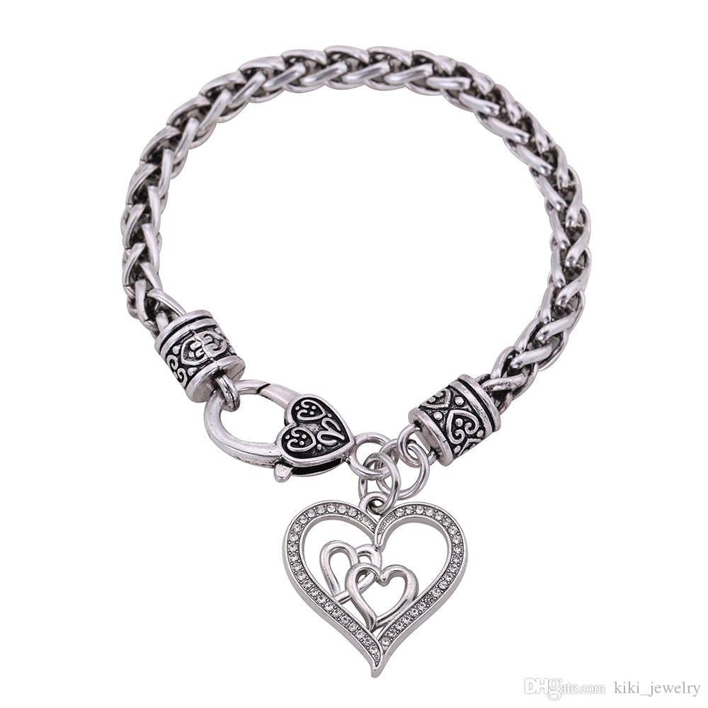 Myshape Wholesale Retail Fashion New Design New 2018 Fasion Jewery Love Couple Heart Shaped Chain For Bracelets