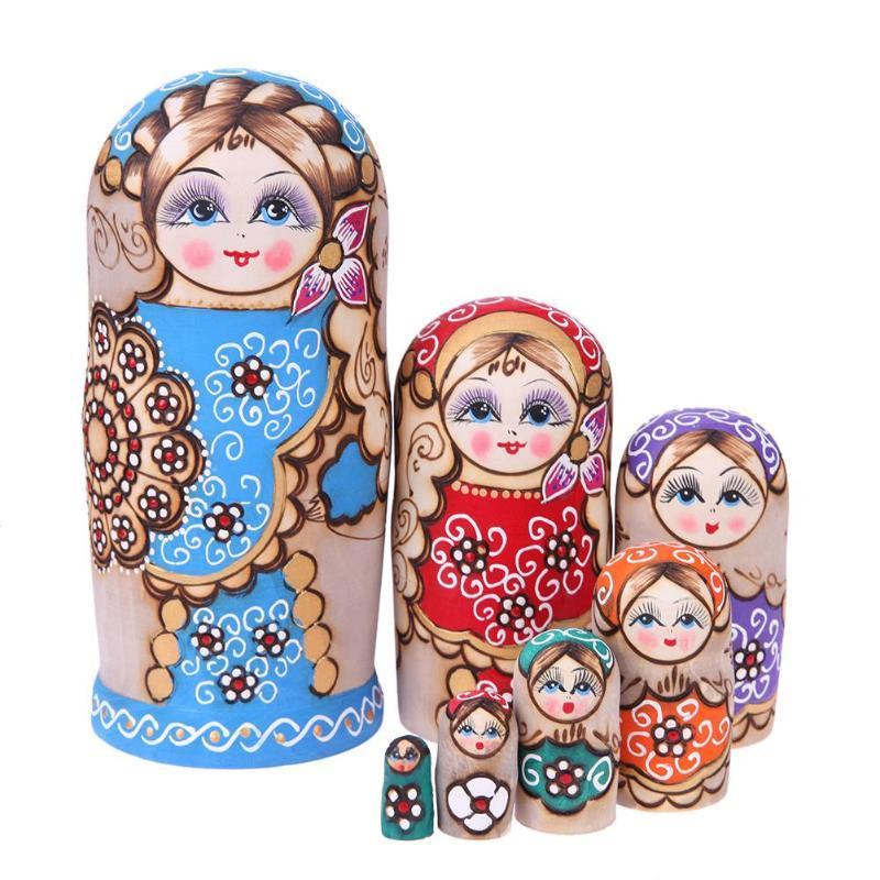 Wooden Russian Nesting Dolls Matryoshka Doll Handmade Crafts For