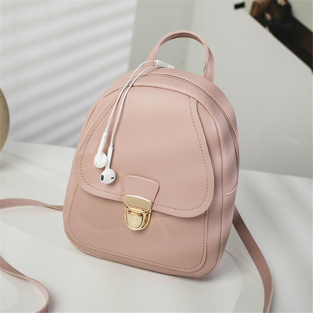 Local Stock Women Leather Backpack Children Backpack Mini Women Cute Panelled Backpacks for Teenage Girls Small Bag Hot