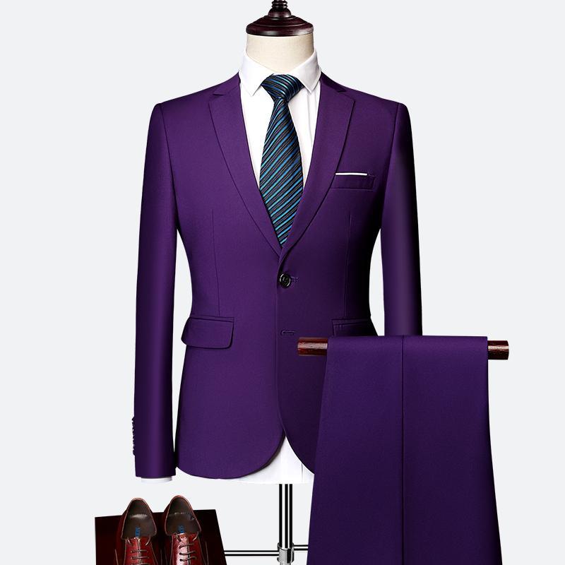 Cheap Men Prom Outfits Best Coat Pant Design Black Color 5531082873ab