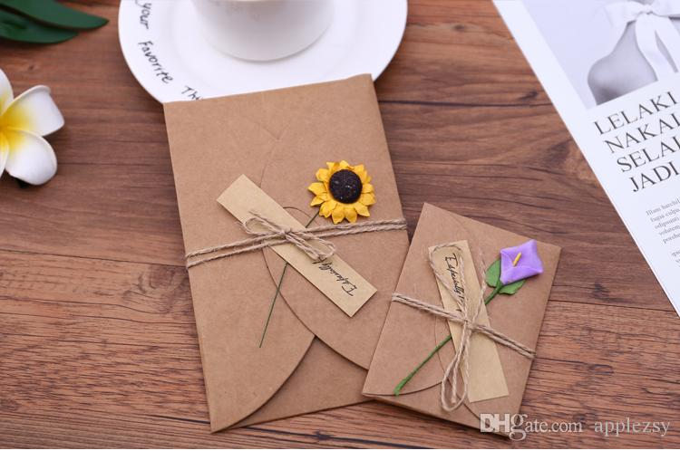 Creative Dried Fiower Birthday Cards New YearS Careds Christmas Send Your Best Wishes To Friends Gift For Cash Sell Online From