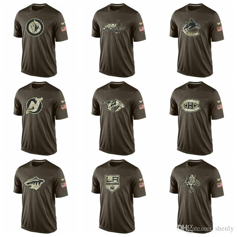 Men Salute To Service T Shirt Florida Panthers Los Angeles Kings Minnesota  Wild Montreal Canadiens Nashville Predators New Jersey Devils Funny T  Shirts For ... e19b977e9