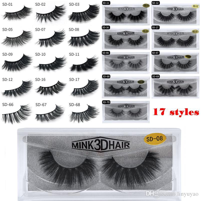e9eda596b2d 17 Styles 3D Mink Eyelashes Eye Lash Extension Sexy False Eyelashes Natural  Thick Fake Eye Lashes Full Strip Mink Eye Lashes Beauty Tools How Much Are  ...