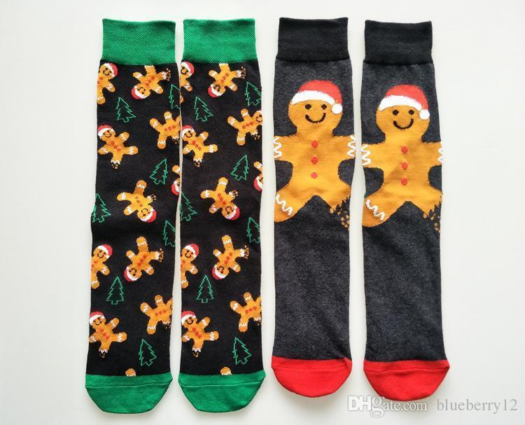 Pop Ginger Man Socks For Male Mens Knit Christmas Cartoon Cotton Socks 2 Types Vogue