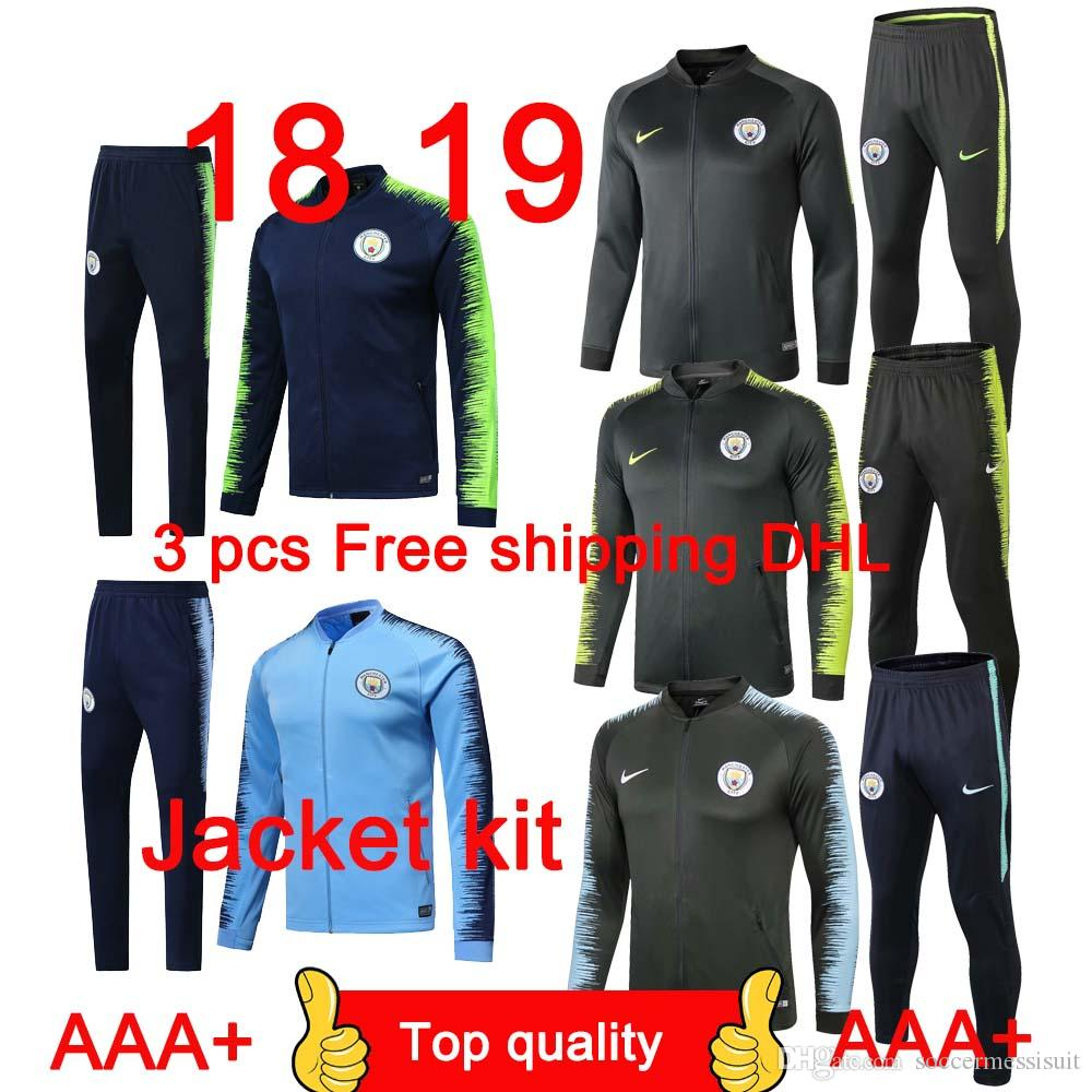 Best-selling Top 18 19 New Season Man City Jacket Tracksuit Suit ... 63038ac14