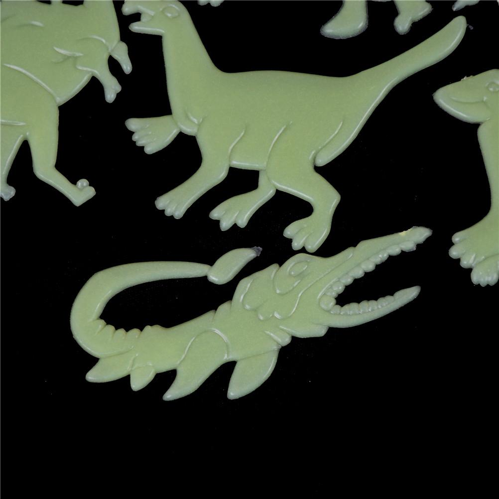 9PCS Luminous Home Decor Decal Baby Kids Room Fluorescent Stickers Dinosaur Glow In The Dark Wall Stickers