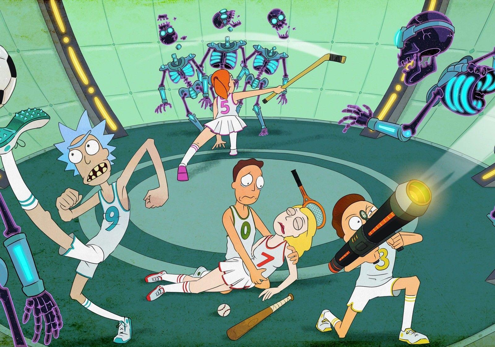 RICK MORTY Art Show Justin Roiland Sanchez Smith Art affiche en Soie Affiche 24x36 pouces (60x90cm) 04