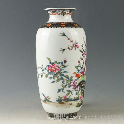 2019 Chinese Porcelain Hand Painted Flower \u0026 Bird Vase W Qianlong Mark R1178 From Good_deal2258 $79.4 | DHgate.Com & 2019 Chinese Porcelain Hand Painted Flower \u0026 Bird Vase W Qianlong ...