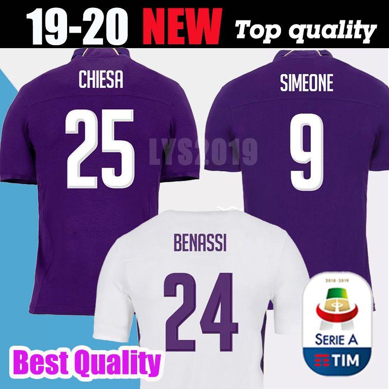 df807ae92 2019 2018 19 ACF Fiorentina Soccer Jerseys Chiesa Simeone Gerson Futbol  Camisa Football Camisetas Shirt Kit Maillot From Lys2019