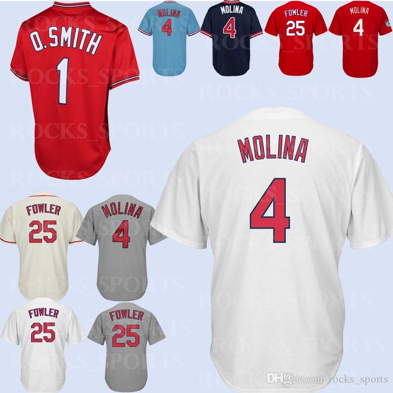 Sport St Louis Cardinals Yadier Molina #4 Team Athletics Trikot Rot Mlb Jugendliche Fanartikel