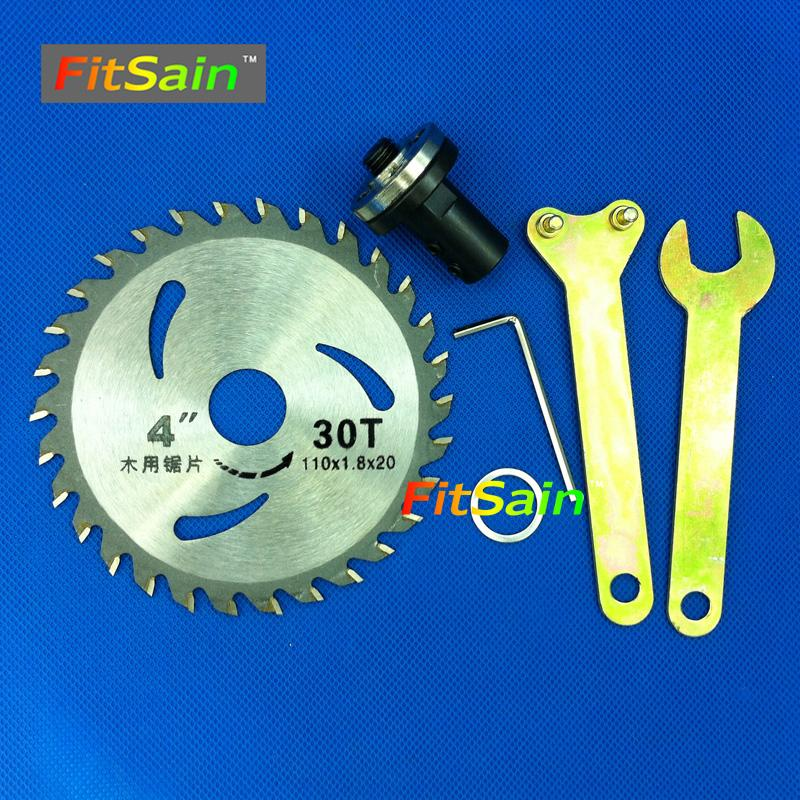 "FitSain--4"" 110mm Electric saw blade wood cutter cutting disc Used for motor shaft 5mm/6mm/8mm/10mm/12mm for Adapter coupling"