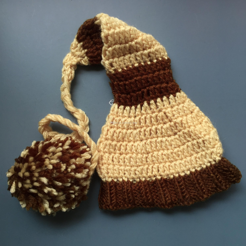 a2a5094ce98 2019 Novelty Crochet Baby Elf Hat