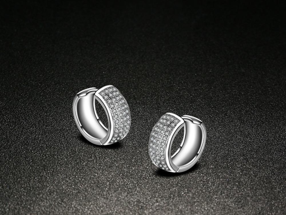Çift Yıldız Cz küpe Kadınlar Takı Için pendiente plata 925 ayar gümüş Saplama Küpe ed91 buklet d 'oreille brincos