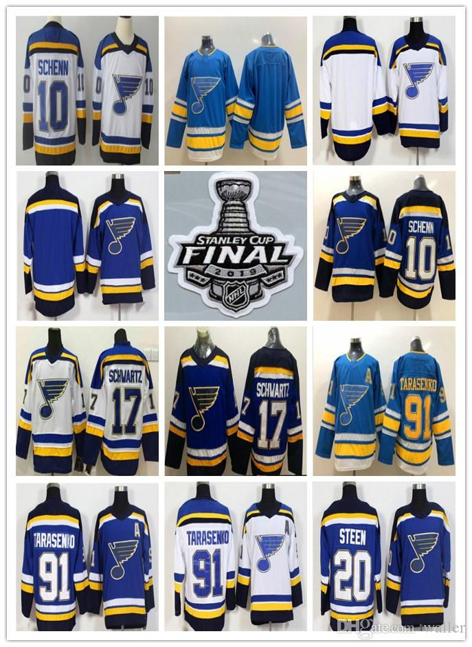 wholesale dealer afd19 a4d6e 2019 Stanley Cup Finals St Louis Blues Jersey Hockey Vladimir Tarasenko  Jaden Schwartz Binnington Alex Pietrangelo Ryan OReilly Parayko Men
