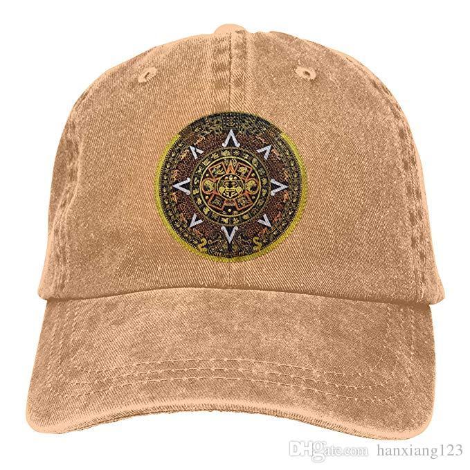 2019 2019 New Cheap Baseball Caps Aztec Calendar Archeology Mens Cotton  Adjustable Washed Twill Baseball Cap Hat From Hanxiang123 875b1e14466