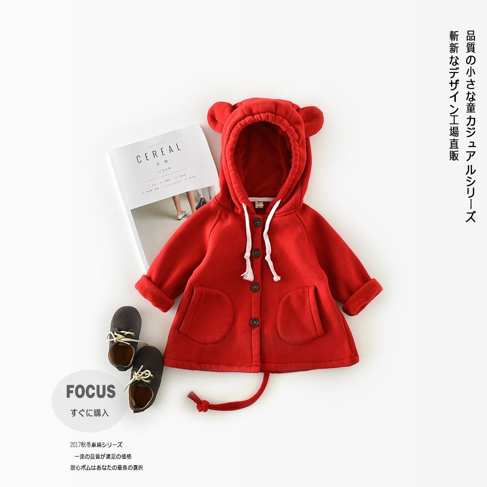 630ca6debb1f Fashion Toddler Children Ear Hooded Jacket Kids Clothes Long Sleeve ...
