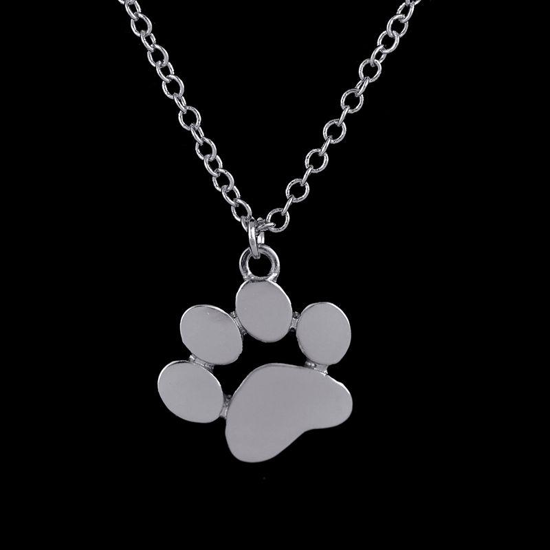 oly2u 2018 Fashion Wedding Jewelry Set Cat/DOG Paw Necklace/Earring/Ring Set Statement Jewelry Christmas/birthday Gift for kids