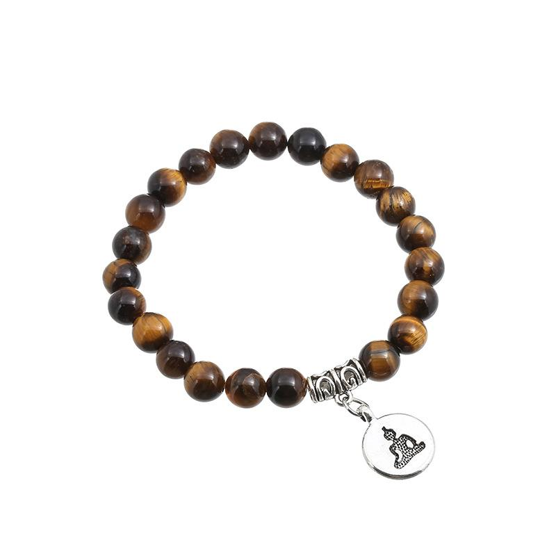 new fashion natural tiger-eyed beaded bracelet yoga beads handmade bracelet natural stone