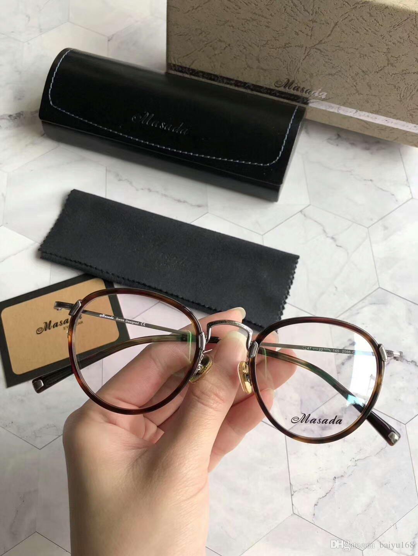 bd92f7f7d2fc6 Satın Al MASADA Altın / Hanava Gözlükler Gözlük Optik Çerçeve Şeffaf Lens  47 22 145 Moda Güneş Gözlüğü Çerçeveleri Gözlük Kutusu Ile Yeni, $64.98    DHgate.