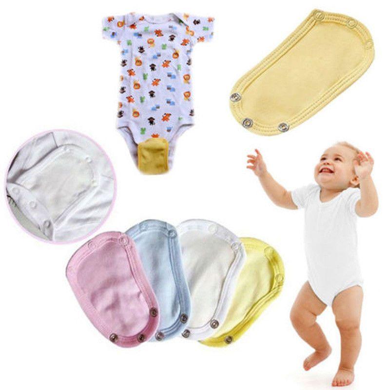 5363bd563 Compre Bebé Recién Nacido Niños Niñas Mono Extender Body Romper Extender  Pañal Butt Cubierta De Bolsillo Extensión De La Ropa Interior De Algodón  Suave A ...