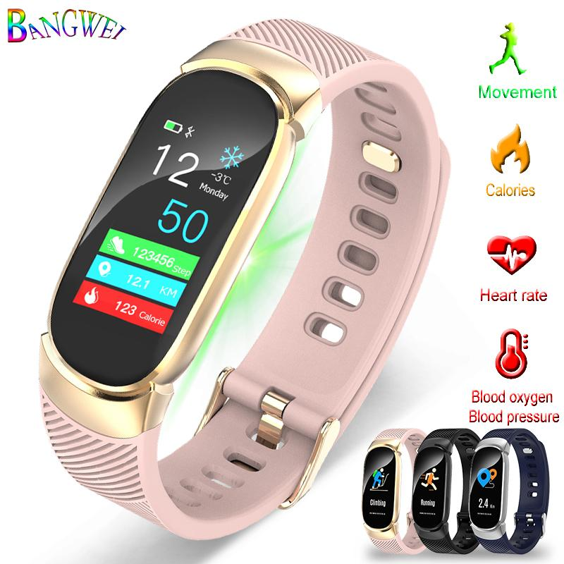 289b3aa1dbc0 BANGWEI 2019 New Sport Smart Watch Women IP67 Waterproof Watch Heart Rate  Monitor Information Call Reminder Smart Fitness Watches Sales Sale Watch  From ...