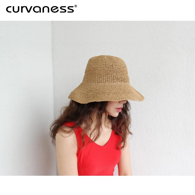 Wild Summer Visor Fisherman Hat Spring And Autumn Beach Straw Hat Japanese Sun Sunscreen Female Net Red Summer