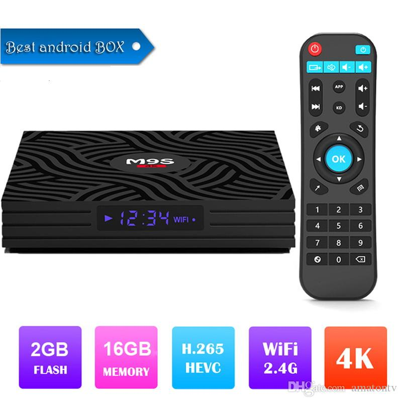 2019 M9S W6 Android 7 1 TV Box 4K UHD Media Player Amlogic S905W Quad-core  ARM Cortex-A53 CPU 64 Bit DDR3 2GB 16GB 2 4G WiFi IPTV 3D 4K