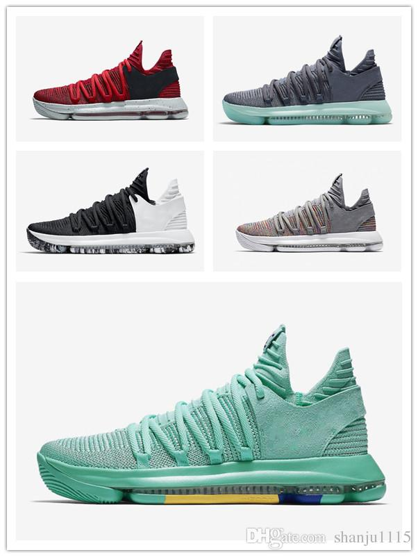4d9369fb5 2019 2019 Men Basketball Shoes KD 10 X Elite Mid Multi Color Oreo White  Black Numbers BHM Igloo Kevin Durant Sport Sneakers From Shanju1115