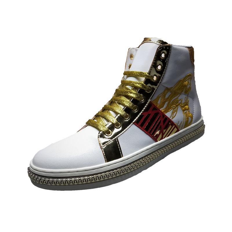 9c2275f31 Compre Sapatos De Grife 2019 Sapatos Masculinos De Tendência Tendência Nova  Beleza Botas De Cabeça De Couro Respirável Moda Mens Sapatos De Grife De ...