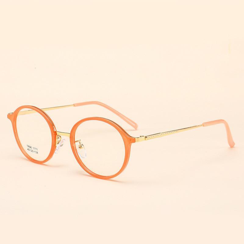 66d5e16da Compre TR90 Rodada Óculos Transparentes Lente Clara Óculos Óculos De Armação  De Óculos De Olho Óptico Falso Óculos De Leitura De Miopia Óptica De ...