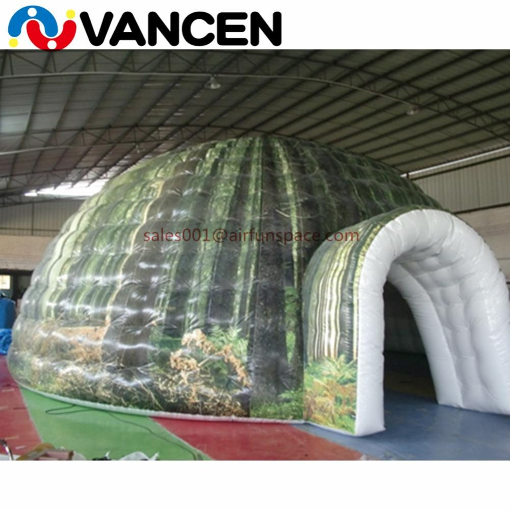 Giant popular igloo inflatable tent forest style bubble tent for outdoor CE  certification inflatable camping tent for event