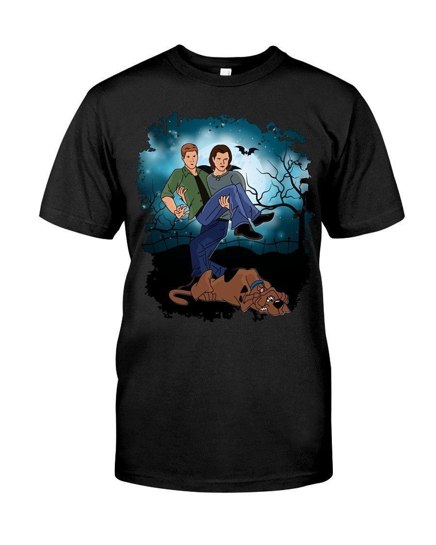0e9aae551 Supernatural Scooby Doo Funny Dean Sam Winchester Black T Shirt S 3XL Funny  Unisex Casual Tshirt Great Tees Latest Designer T Shirts From  Sillyboytshirts, ...